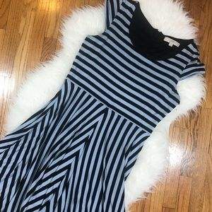 LOFT Cap Sleeve Striped Dress
