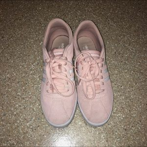 Pink Adidas Courtset Sneakers