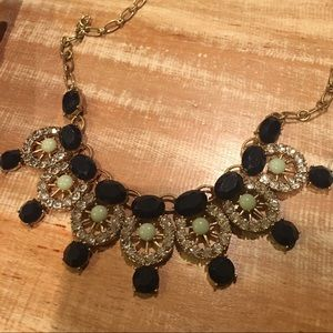 J. Crew Statement Necklace- blue and green