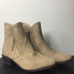 JustFab Western Style Ankle Tan Bootie Wmn Sz 11