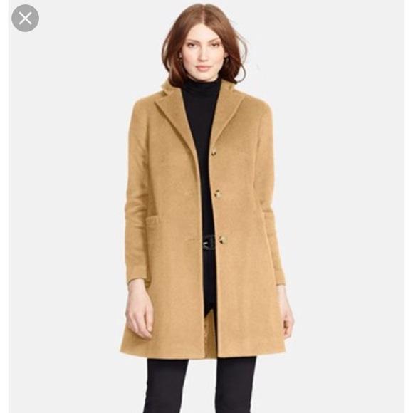 top-rated release date: new design Ralph Lauren Camel Wool Blend Reefer Coat