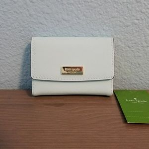 NWT ate Spade Large Holly blue card holder