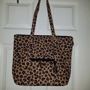 Vera Bradley Villager Leopard Chic Tote NWOT