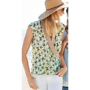 Cabi Butterfly Wrap Top #234