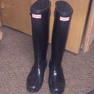 Hunter Original Black Glossy Tall Rain Boot
