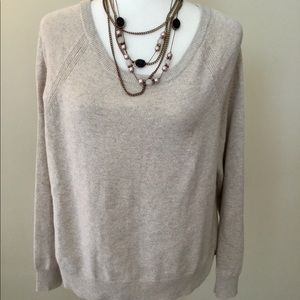Banana Republic ItalianYarn gold glittered Sweater