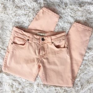 CAbi Cropped Bree Jean in Creamsicle - Size 2