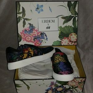 Erdem x H&M Floral Slip-on Shoes