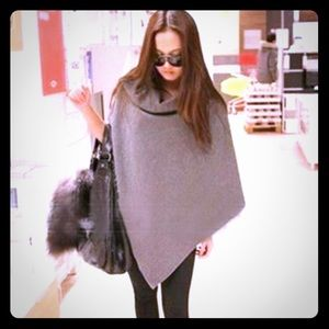 Gray Light Weight Poncho Cape Jacket