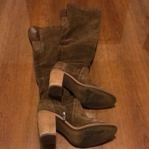Vince Camuto Over the Knee Suede Brown Boots