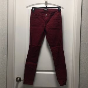 EXPRESS Jeans. Size 4. Red.
