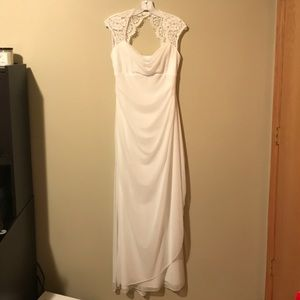 db studio lace cap sleeve dress