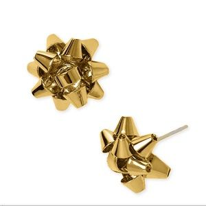 Kate Spade Christmas Bow Earrings Gold