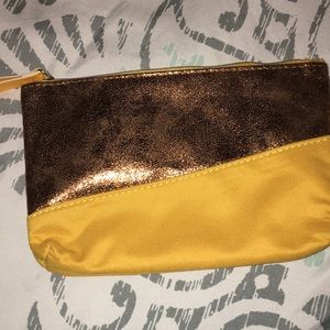 Gold/mustard color pouch