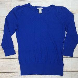 H&M royal blue sweater Sz M Medium