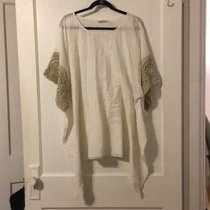 Crochet Trim Tunic/Poncho