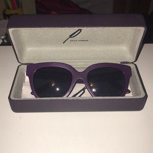 Purple leather sunglasses