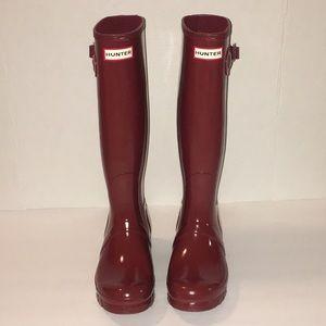 ❤NWOB Hunter Original Tall gloss rainboots size 7