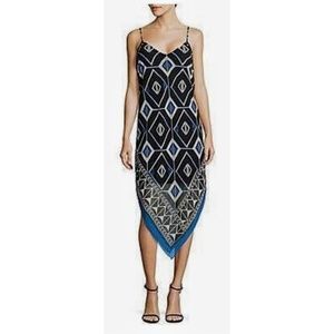 Vince Camuto Graphic Handkerchief dress