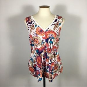 Anthropologie Deletta Small 100% Cotton Floral