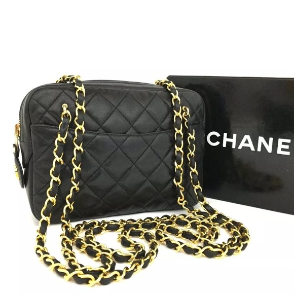 CHANEL - Chanel Quilted Matelasse Lambskin Chain Bag from Jewel's ... : chanel quilted chain bag - Adamdwight.com