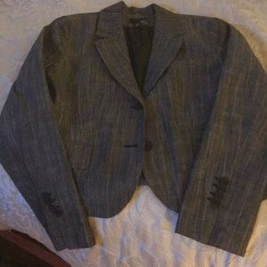 Grey pinstripe blazer. H&M size 10. Fully lined.