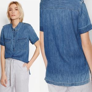 NWT equipment femme Rory chambray denim blouse Sm