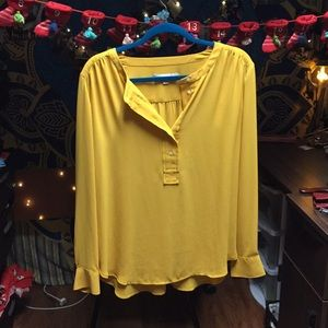 NWOT Yellow Loft Blouse