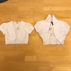 NWT white jacket top shirt short sleeve small