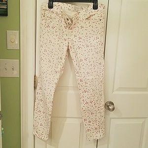 Current Elliott Floral skinny jeans size 29