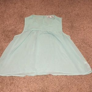 Light Blue Forever 21 Chiffon Top