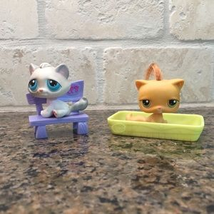 Littlest Pet Shop Pets Cats EUC