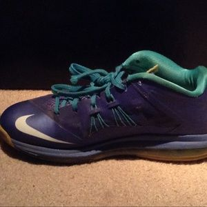 Nike lebrons blue and white