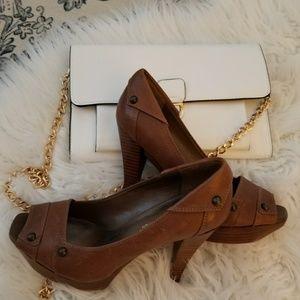 BCBGeneration Tan/Brown Heels
