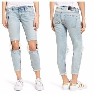 NWT One Teaspoon freebird raw hem destroyed jean