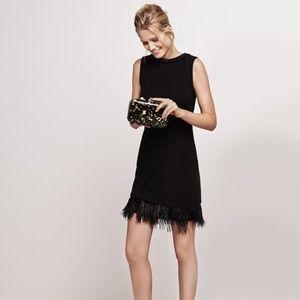 Ann Taylor Feathered Hem Dress  NWT
