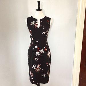 [Ann Taylor] NWT black floral sleeveless dress