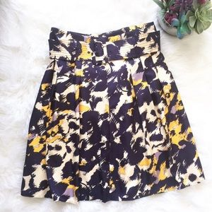 The Limited Floral Belted Circle Skirt
