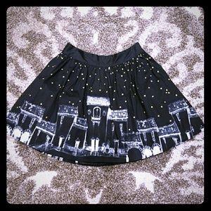 Black stary skirt