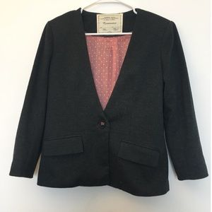 Anthropologie Cartonnier Dark Grey Blazer