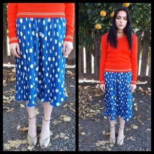 Cute vintage pleated polka dot skirt size M.