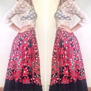 Like New⭐Psychedelic Magic Mirror Flower Skirt!