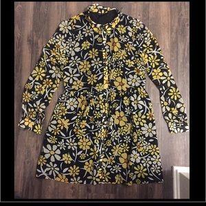 TopShop Yellow daisy shirt dress