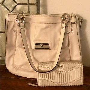 "Coach ""Kristin hobo"" bag and wallet"