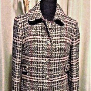 Tweed Wool Blend Coat
