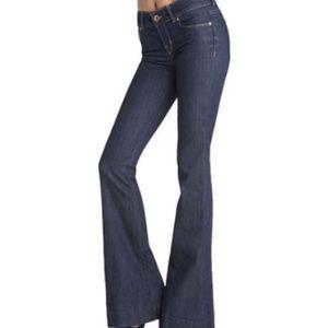 J Brand Bell Bottom Dark Denim Jeans 27