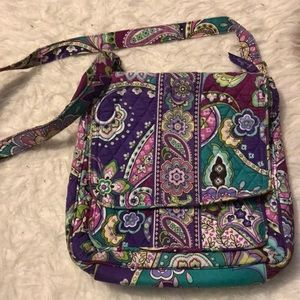 Vera Bradley crossbody mailbag purse tote heather