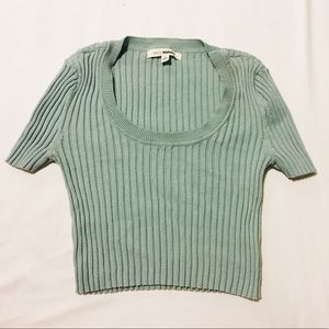 Urban Outfitters Mint Green Crop Top