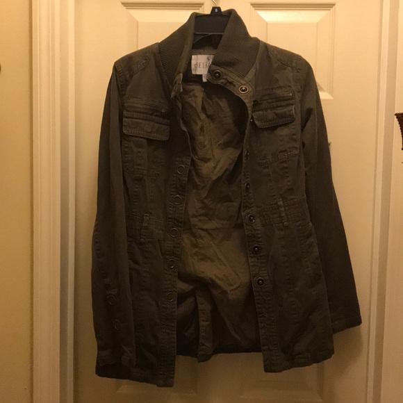 fd0fb12cdd Delia's Jackets & Coats | Womens Olive Green Utility Jacket Size ...