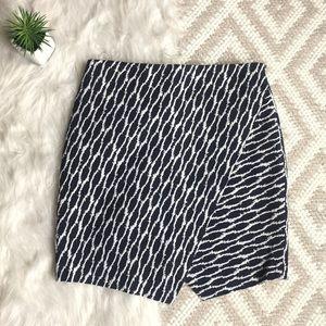Loft Asymmetrical Envelope Wrap Skirt